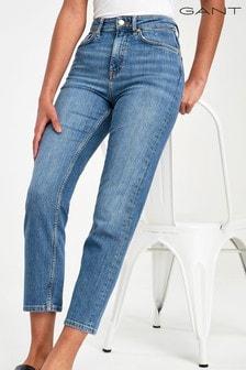 GANT Blue Womens High Waist Slim Jeans