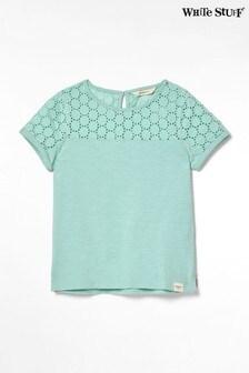 White Stuff Blue Kids Lila Jersey T-Shirt