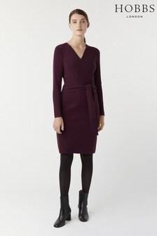 Hobbs Purple Melissa Knitted Dress