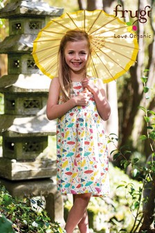Frugi GOTS Organic Parasol Print Party Dress