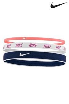 Nike Orange Mixed Headbands Three Pack