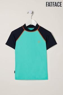 FatFace Teal Colourblock Rashie Vest
