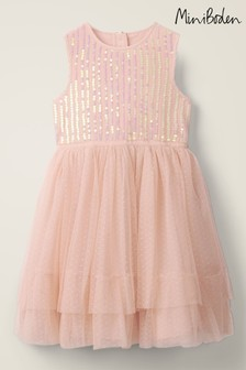 Boden Pink Sequin Floaty Dress