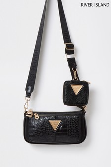 River Island Black Underarm Bag