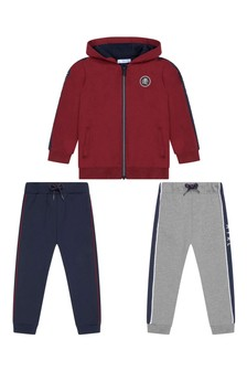 Boys Burgundy Tracksuit Set