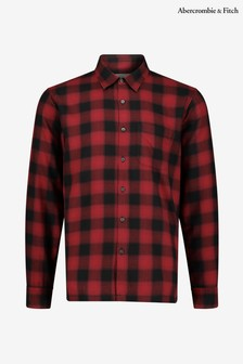 Abercrombie & Fitch Red Ombre Plaid Shirt