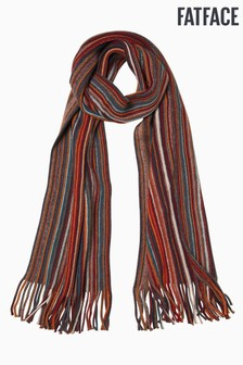 FatFace Orange Vertical Stripe Scarf