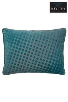 Peacock Blue Rivo Velvet Spots Cushion