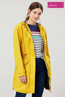 Joules Gold Barrowden Longline Waterproof Coat