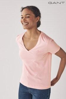GANT Preppy Pink Original V-Neck T-Shirt