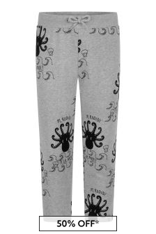 Mini Rodini Kids Grey Octopus Joggers