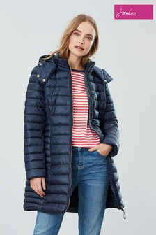 Joules Blue Canterbury Long Padded Coat