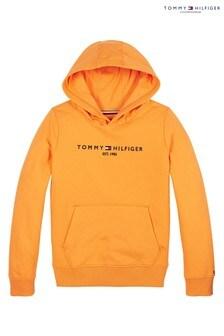 Tommy Hilfiger Orange Essential Logo Hoody