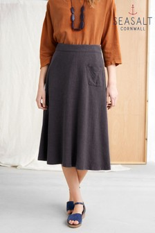 Seasalt Grey Bountiful Fields Skirt