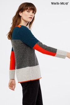 White Stuff Grey Hawthorn Stripe Jumper