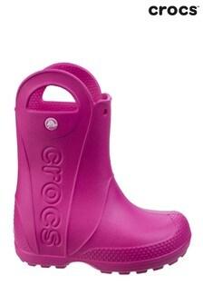Crocs™ Pink Handle It Rain Boots