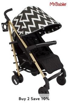 My Babiie Gold Edition Chevron Stroller