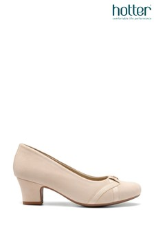 Hotter Cream Georgia Slip-On Court Shoes