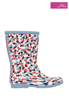 Joules White Junior Roll Up Wellies