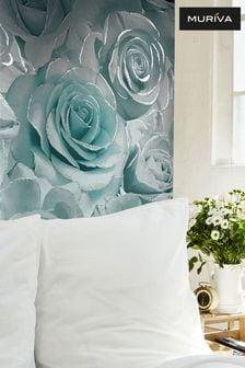 Muriva Blue Madison Glitter Floral Wallpaper