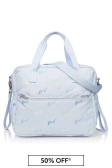 Kenzo Kids Baby Boys Blue Changing Bag