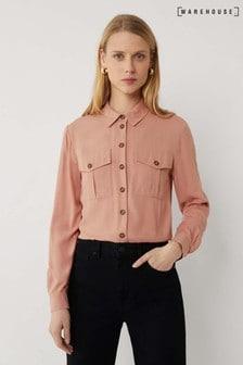 Warehouse Pink Casual Utility Shirt
