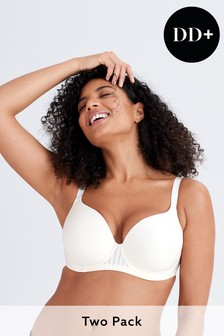 DD+ Light Pad Balcony Bras 2 Pack