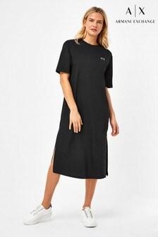 Armani Exchange Jersey Long Line Dress