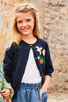 Boden Blue Fun Crochet Cardigan