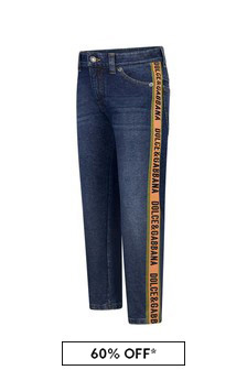 Dolce & Gabbana Kids Boys Navy Denim Jeans