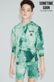 Sometime Soon Green Tie Dye Hoody
