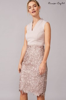 Phase Eight Neutral Aletta Lace Skirt Dress