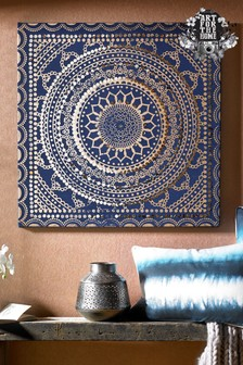 Embellished Ink Fabric Wall Art by Art For The Home