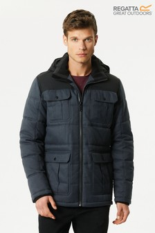Regatta Arnault Herringbone Wool Effect Hooded Jacket