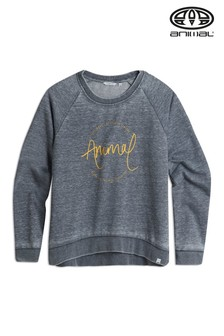 Animal Blue Lamu Crew Neck Sweatshirt