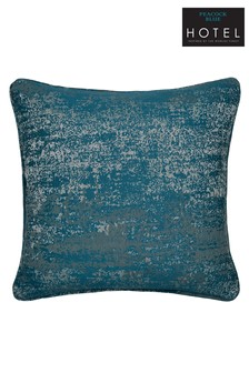 Peacock Blue Roma Metallic Weave Cushion