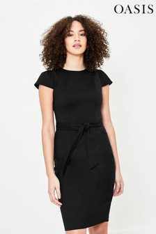 Oasis Black Tailored Workwear Dress