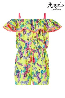 Angels by Accessorize Multi Bardot Wild Jungle Print Playsuit