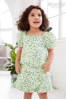 Mintie by Mint Velvet Lila Green Spot Skirt