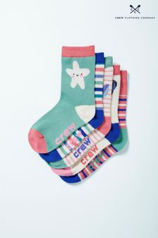 Crew Clothing Pink Bamboo Socks Five Pack