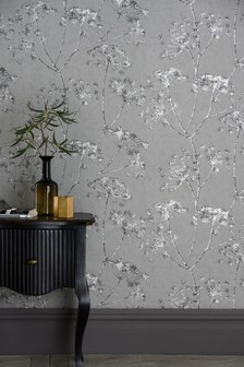 Paste The Wall Gilded Cow Parsley Wallpaper