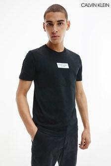 Calvin Klein Black Chest Box Logo T-Shirt