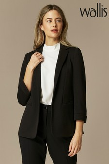 Wallis Black Petite Ponte Jacket