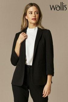 Wallis Black Petite Ponte Jacket