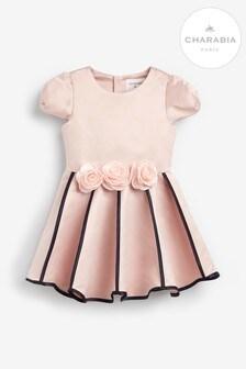 Charabia Pink Roses Belt Dress