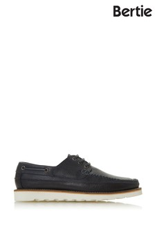 Bertie Brimstown Navy Suede 3 Eye Desert Shoes