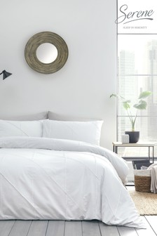 Serene Dart verzierter Bettbezug und Kissenbezug mit Biesen im Set
