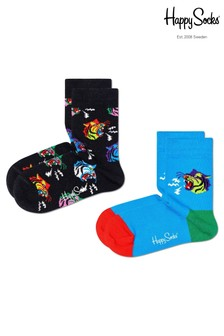 Happy Socks Kids Tiger Socks Two Pack