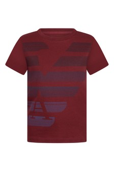 Boys Red Cotton Jersey T-Shirt