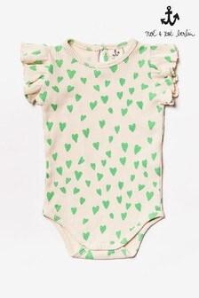 Noé & Zoë Green Heart Print Bodysuit